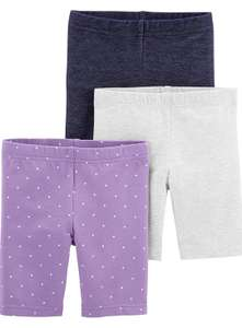 Girls 3 pack bicycle shorts age 6-9 months - £4.35 using code Prime / +£4.49 non Prime at Amazon