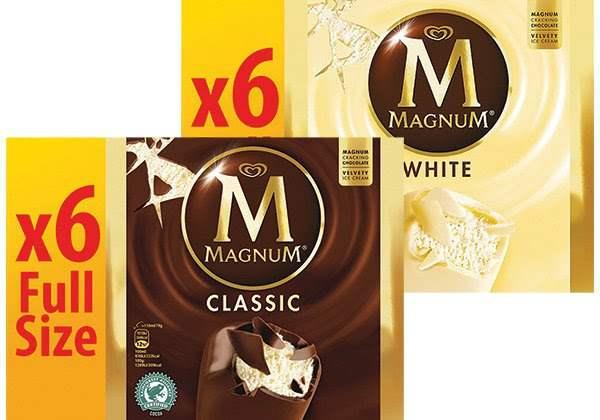6x Magnum White & 6x Magnum Classic (full size) - 3 packs £7 instore @ Farmfoods