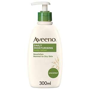 Aveeno Daily Moisturising Lotion Normal to Dry Skin Care 300ml - 4 for £17.67 / £13.36 via subscribe and save (+£4.49 non-prime) @ Amazon