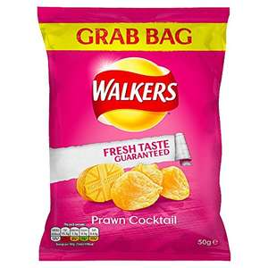 Walkers Prawn Cocktail Grab Bag Crisps, 50 g (Case of 32) £10.38 (+£4.49 non-prime) @ Amazon