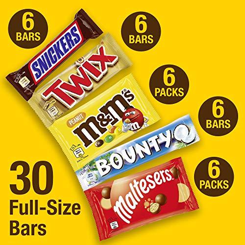 M&M's, Snickers, Twix & More, Mixed Chocolate Bar Variety Bulk Box, 30 Bars, 1.4kg £17.99 (+£4.49 non-prime) @ Amazon