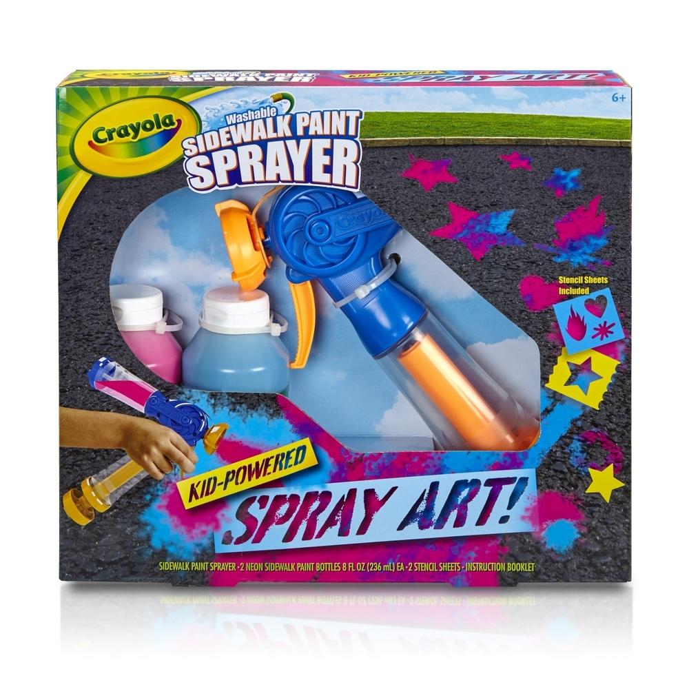 Crayola Sidewalk Paint Sprayer Kid-Powered Spray Art - £7.99 + £3.49 delivery @ Home Bargains