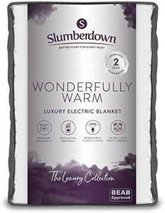 Slumberdown Wonderfully Warm Multi-Zone Single Electric Blankets with Timer & 9 Heat Settings Electric Blankets - £23.12 delivered at Amazon