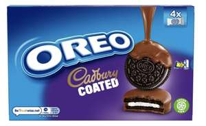 Oreo cadbury coated biscuits 4 x 2 pack only 59p instore at Farmfoods (Somerset)
