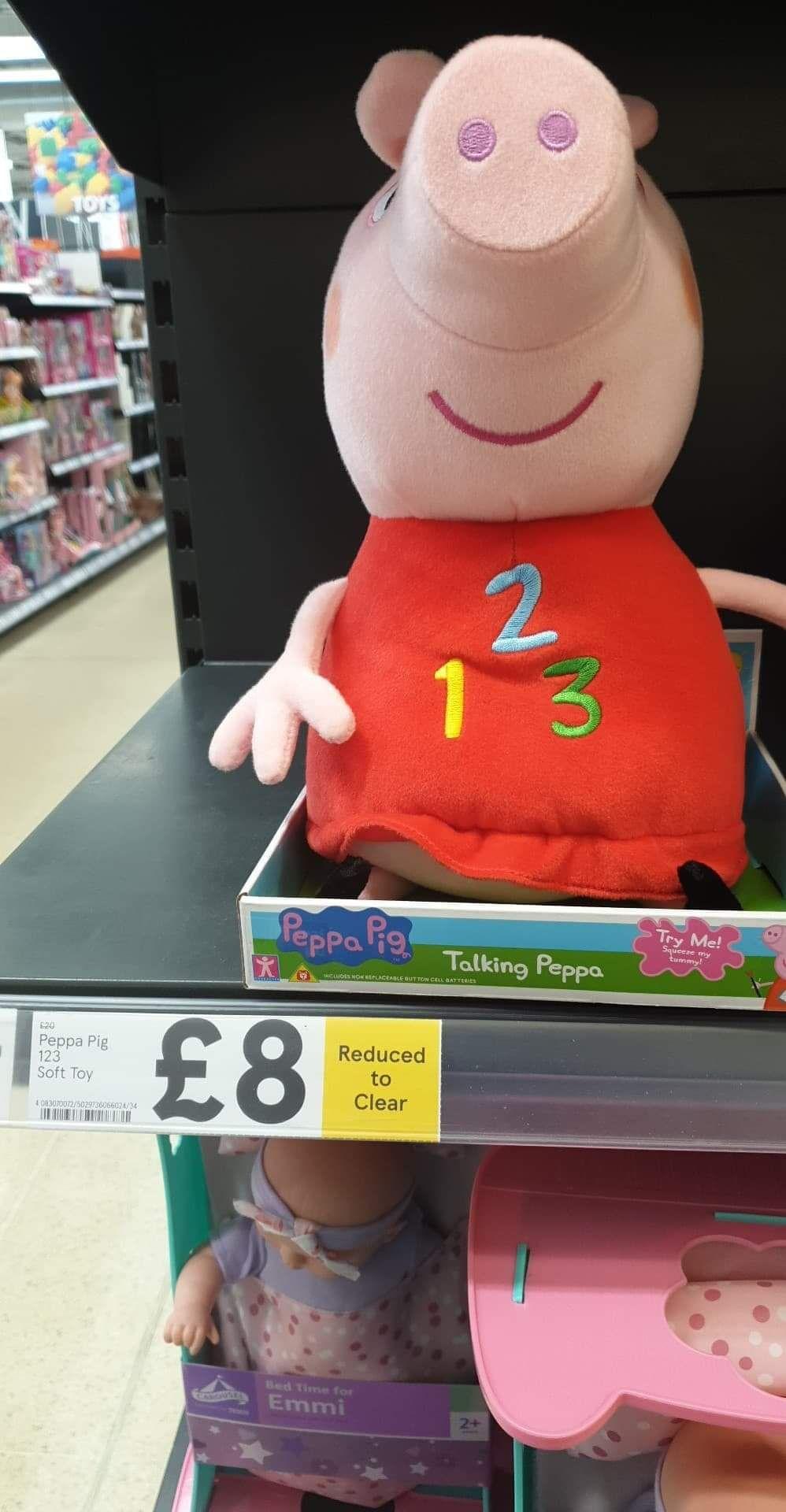 Talking Peppa - £8 Instore @ Tesco (Rotherham)