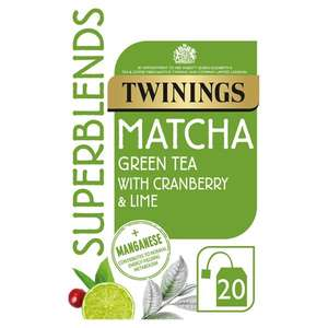 Twinings Superblends Matcha 40G - £1.35 (Min Basket / Delivery Charge Applies) at Tesco
