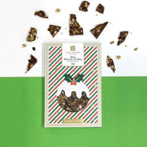Giant Christmas Pudding Milk Choc Bar (500g) - £2.50 (£3.50 shipping / Free for orders over £40) @ Love Cocoa