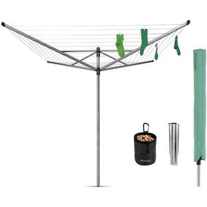 Brabantia Lift-O-Matic 4 Arm Rotary Airer - 50m Peg bag and cover included - £69 (Free Click & Collect in Limited Locations) @ Homebase