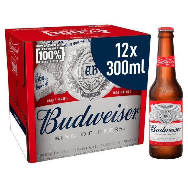 Budweiser Lager Beer Bottles12 x 300ml - £6.99 @ Morrisons