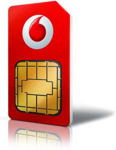 Vodafone Sim Only Unl Max 12m £25pm 12 months Total = £300 (£15pm after cashback by redemption) @ Mobiles.co.uk