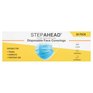 Step Ahead Disposable Face Covering 50 per pack - £5.00 @ morrisons