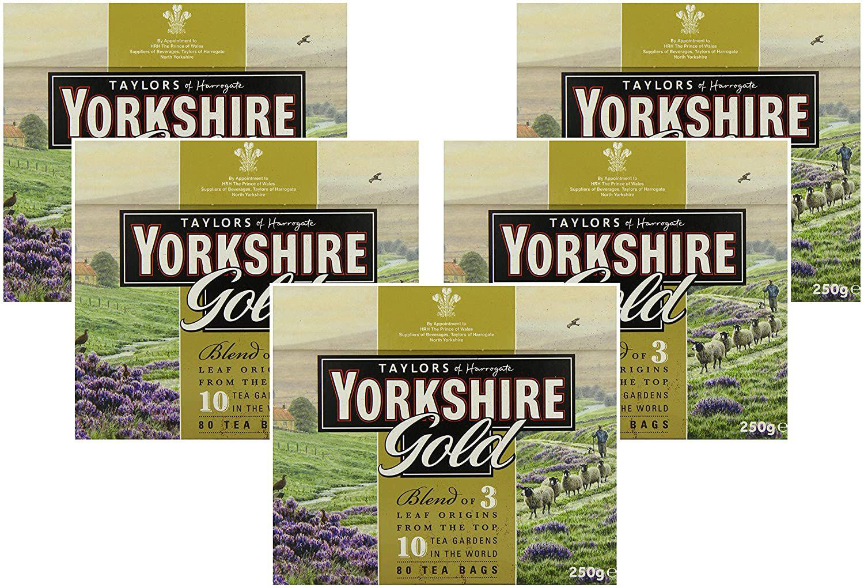Yorkshire Gold Tea, 80 Tea Bags (Pack of 5, total 400 teabags) £12.50 @ Amazon (£4.49 p&p non prime)