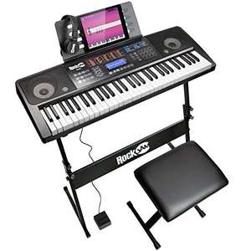 RockJam RJ761-SK 61 Keyboard Piano Kit 61 Key Bench Keyboard Stand Headphones Sustain Pedal Used Acceptable £46.12 @ Amazon Warehouse