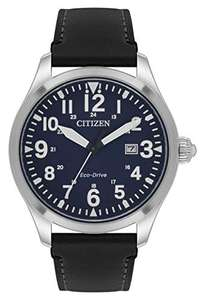 Citizen Men's Eco-Drive Analogue Watch with Leather Strap, £77.63 at Amazon