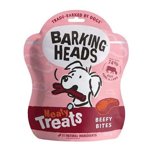 Barking Heads Meaty Treats Beefy Bites, 7 x 100g - £7.07 (+£4.49 Non Prime) @ Amazon