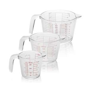 Set of 3 Glass Measuring Jugs - 350ml / 500ml / 1000ml - £10.44 Delivered @ Roov