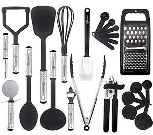 Kitchen Utensil Set - 23 Pcs Nylon Cooking Utensils Set for Non Stick Pans £9.99 Prime / £14.48 NP Sold by Yellapro Limited and FBA