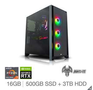 AWD-IT Voyager 7 iCUE, AMD Ryzen 7, NVIDIA GeForce RTX 3080, 16GB RAM, 500GB SSD, 3TB HDD, Gaming Desktop PC £2249.89 at Costco