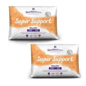 Buy One Get One Free on Packs of 2 Slumberdown Super Support Firm Support Pillow (4 Pillows total) £14.99 Delivered @ SleepSeeker