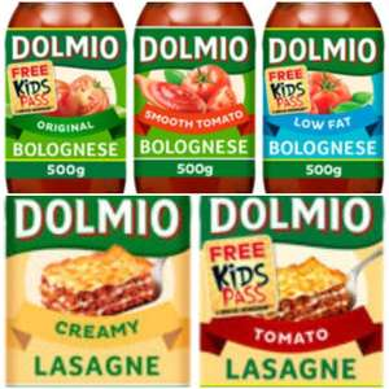 Dolmio Bolognese Pasta Sauce Original / Smooth Tomato/Low Fat / Lasagne Sauce Red Tomato (500g) / White Creamy (470g) £1 @ Asda