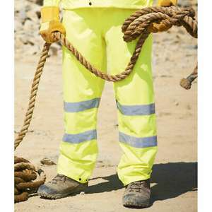 Regatta Hi Vis Yellow Overtrousers Waterproof Breathable Work Outdoor £4.99 @ bigdealoutdoors / eBay