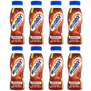 Weetabix On The Go Chocolate Breakfast Drink, 250 ml, Pack of 8 £6.67 / as low as £5.67 via subscribe and save (+£4.49 non prime) @ Amazon