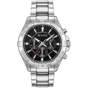 Bulova Mens Chronograph Quartz Watch with Stainless Steel Strap, £91.99 at H.Samuel