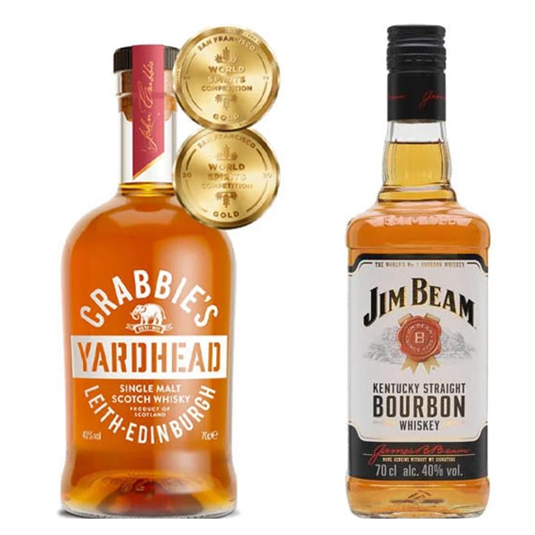 Crabbie's Yardhead Single Malt Whisky & Jim Beam Bourbon Whiskey 70cl Bundle £19 @ The Drop Store