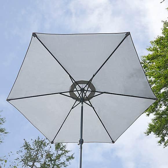 Grey Crank Parasol 2.7m - £35 @ Dunelm - free click & collect