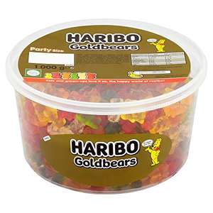 Haribo Gold Gummy Bear 1kg sweets party tub £4.50 + £4.49 Non Prime or £4.28 Subscribe & Save @ Amazon