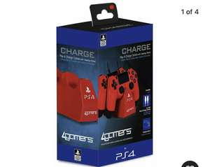 Sony Playstation PS4 Twin Play & Charge Cables & Stand - Red - £7.99 delivered at Argos / eBay
