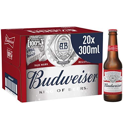 Budweiser Lager Beer 20 x 300ml Bottles - 4.5% ABV - £9.99 Prime (+ £4.49 Non Prime) @ Amazon