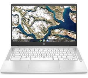 "HP 14a 14"" FHD IPS Intel® N4020 4GB RAM 64 GB eMMC White Chromebook, £224 delivered using code at Currys PC World"