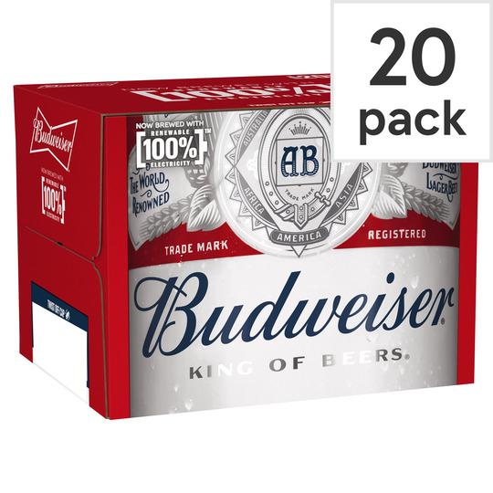 Budweiser - 20 Pack 300ml - £9.99 @ Tesco