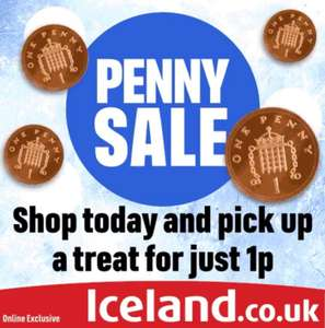Penny Sale - Add an item for 1p with code (Online exclusive / minimum spend applies) @ Iceland
