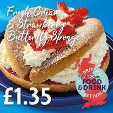 Fresh Cream Butterfly Sponge Cake Half Price £1.35 Instore @ Morrisons