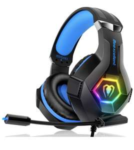 Gaming Headset with Breathing RGB Light & Adjustable Mic £23.79 - Sold by Nooy_euro and Fulfilled by Amazon.
