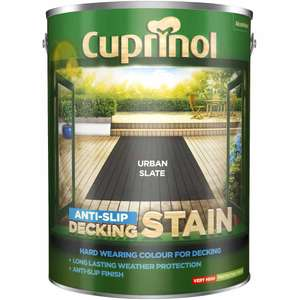 Cuprinol Decking Stain Urban Slate, 5L - £25 + £2 Click and Collect / £5 delivery @ Wilko
