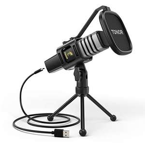 TONOR TC30 USB MICROPHONE £22.36 with voucher - Sold by Micfonotech and Fulfilled by Amazon