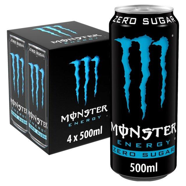 4 pack Monster Absolute Zero Sugar £2.13 @ Sainsbury's (Dundee)