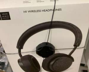 H2 wireless headphones - £12.50 @ John Lewis & Partners (in store only - Leicester)
