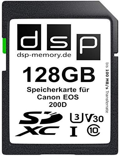 DSP Memory 128GB Professional V30 Memory Card 100/80MB/s R/W SDXC Canon EOS 200D - £9.01 (+£4.49 Non Prime) @ Amazon