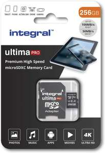 £29.49 Integral 256GB Micro SD Card 4K Video Premium High Speed Memory Card SDXC Up to 100MB s Read and 50MB s Write U3 UHS-I A1