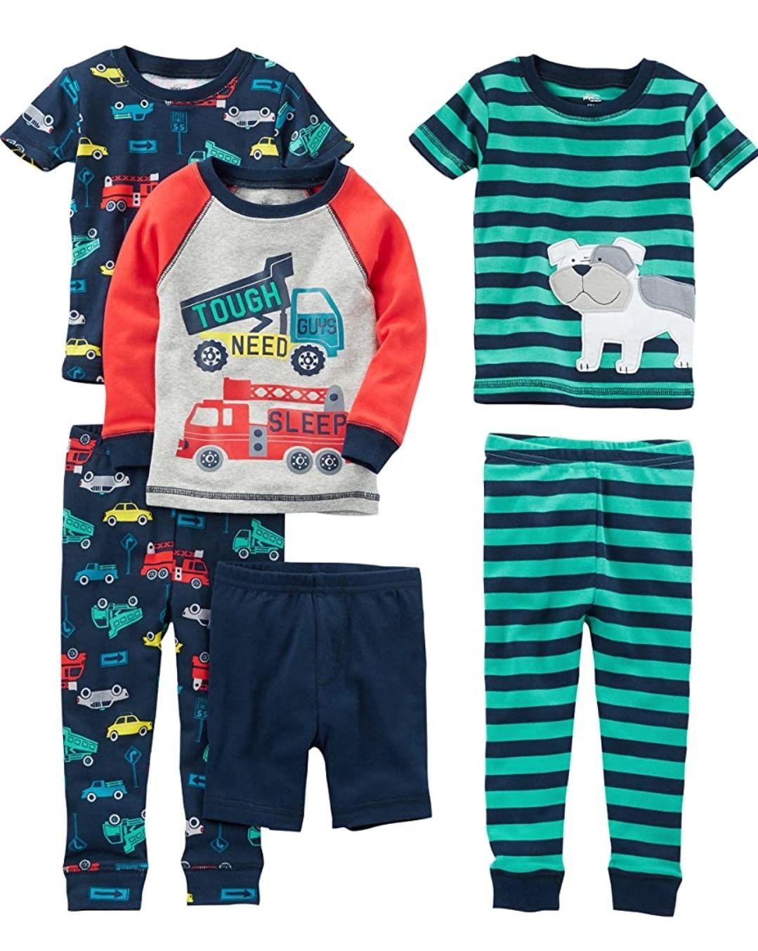 Boys 6 piece pyjama set age 6-9 months now £12.19 (+£4.49 Non-Prime) at Amazon