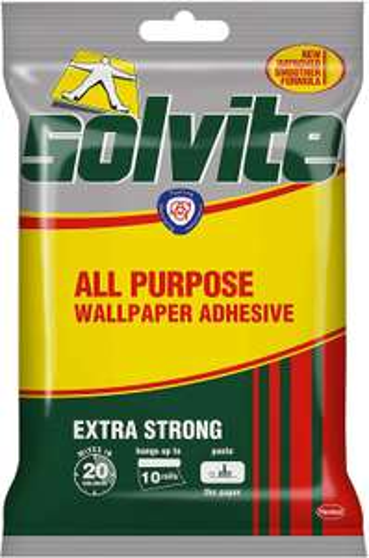 Solvite All-Purpose Wallpaper Adhesive 185g(Hangs up to 10 rolls) £2 @ Amazon (£4.49 p&p non prime)