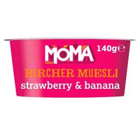 MOMA Bircher Muesli Wild Berry/ strawberry & banana Yogurt 140g at Waitrose for 50p