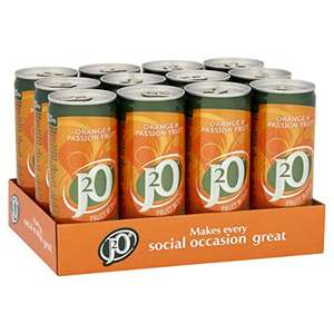 J2O Fruit Blend Juice Drink Perfect Mixer Low Calorie Orange and Passionfruit (12 x 250ml Cans) £6/ £4.20 S&S (+£4.49 NP) Delivered @ Amazon
