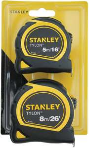 STANLEY STA998985 Pocket Tapes, 5m/16ft & 8m/26ft £8.98 @ Amazon (£4.49 p&p non prime)