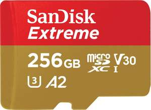 SanDisk Extreme 256GB MicroSDXC 160MBs UHSI Card - £38.79 at PicStop