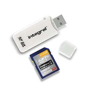 Integral SD Card Reader USB2.0 for SD, SDHC, SDXC Memory Cards, USB Memory Card Adapter, White £1.99 prime / £6.48 nonPrime @ Amazon